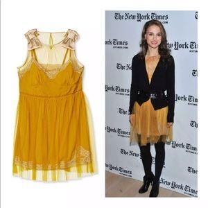 RODARTE for Target Mustard Yellow Slip Mini Dress